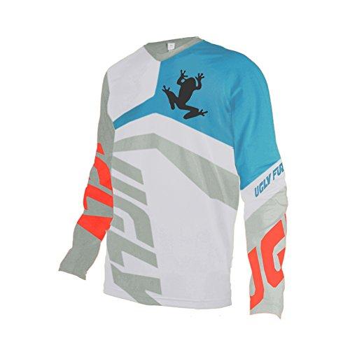 08 Shirt (Uglyfrog 2018-2019 Neueste MTB Lange Ärmel Jersey Frühlingsart Motocross Mountain Bike Downhill Shirt Herren Sportbekleidung Kleidung)