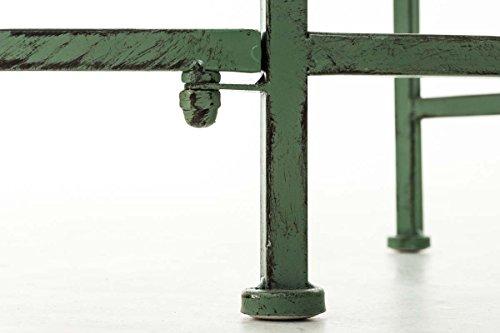 CLP Metall-Gartenbank AMANTI mit Armlehne, Landhaus-Stil, Eisen lackiert, Design antik nostalgisch, Form oval ca. 110 x 55 cm Antik Grün - 8