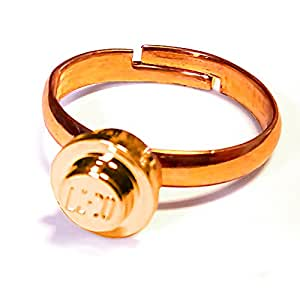 brick ring - ring with LEGO® part (gold)