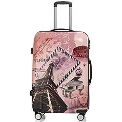 Set jusqu'á 3 Valise rigide de voyage bagage à roulettes 360° policarbonate ABS (XL, Paris)