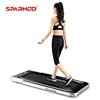 Sparnod Fitness STH-3000 (4 HP Peak) 2 in 1 Foldable Treadmill for Home Cum Under Desk Walking Pad (Free Installation Assistance) - Slim Enough to be stored Under Bed