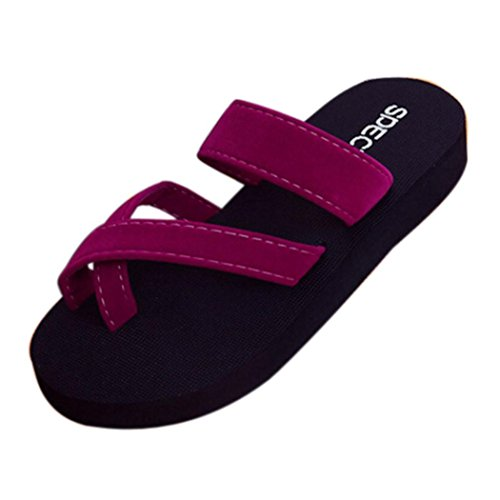 DIKEWANG Ladies Women Summer Flip Flops Casual Quick-Drying Leak Toes Slippers Flat Sandals Beach Open Toe Shoes,Perfect for Summer Beach Vacation