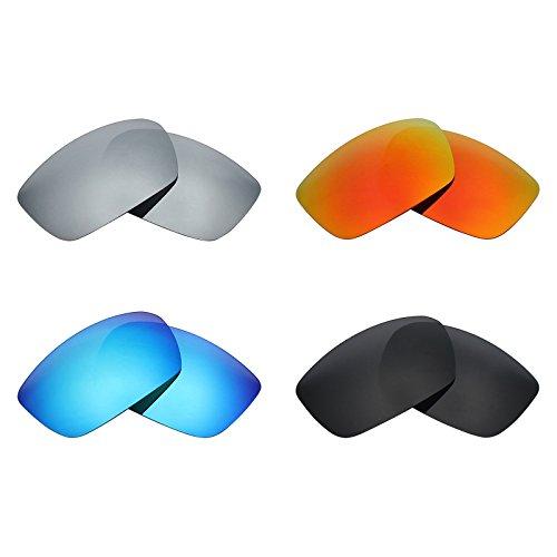 b43c4eb385 MRY 4 Pares polarizadas Lentes de Repuesto para Spy Optic Dirk Sunglasses-Stealth  Negro/
