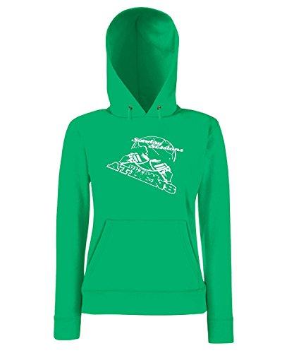 T-Shirtshock - Sweatshirt a capuche Femme TUM0057 ultras athens sunday sessions Vert