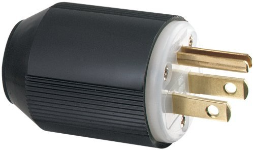 Eaton 5266-L 15-Amp Industrial Grade 3-Wire Grounding Plug, Black by Eaton