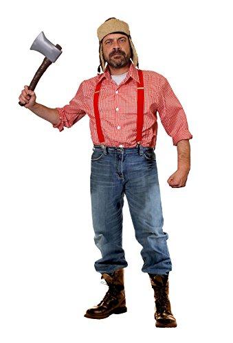 Holzfäller Kostüm Herren - ILOVEFANCYDRESS HOLZFÄLLER-Hillbilly-Lumberjack = KOSTÜM VERKLEIDUNG Halloween