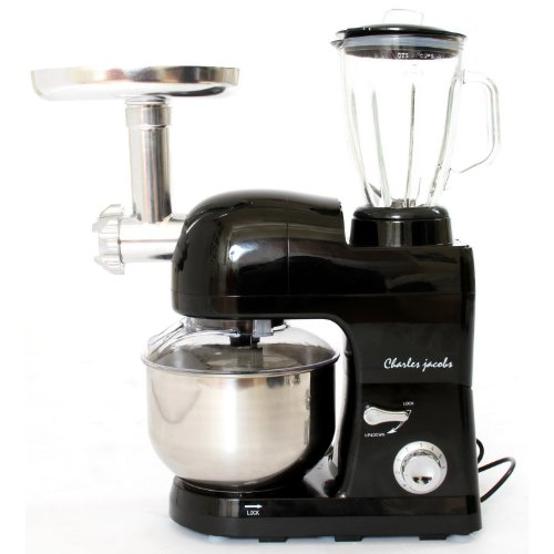 Powerful 1200w 3 In 1 Food Stand Mixer 5.5l In Black By Charles Jacobs by Charles Jacobs