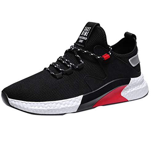 Scarpe da ginnastica Scarpe da corsa Trail Fashion Leggero Tennis Sport Casual Walking Athletic Mesh Low-Top Scarpe da studente traspirante Running Uomo (43 EU,Nero)