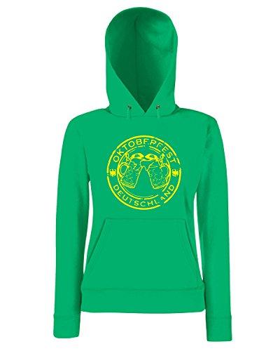T-Shirtshock - Sweatshirt a capuche Femme BEER0110 OKTOBERFEST-STAMP-BY-PASTICHE Vert