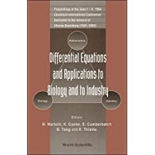 Differential Equations And Applications To Biology And To Industry - Proceedings Of The Claremont International Conference Dedicated To The Memory Of ... Proceedings of the International Conference