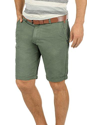 Blend Clemens Herren Chino Shorts Bermuda Kurze Hose Mit Gürtel aus 100% Baumwolle Regular Fit, Größe:XXL, Farbe:Jungle Green - Mit Top Tank Herren Gürtel