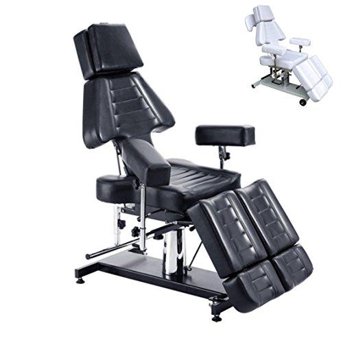 polironeshop Modell-Shamal chaise-lit Multifunktions-Massage für Zentrum von Ästhetik, Physiotherapie, Tattoostudios, Massage, Haarentfernung, Arzt Rettungsassistent, Behandlungen und Therapie, Maniküre und Pediküre beruflichen, Shiatsu, Zentren Sportler schwarz