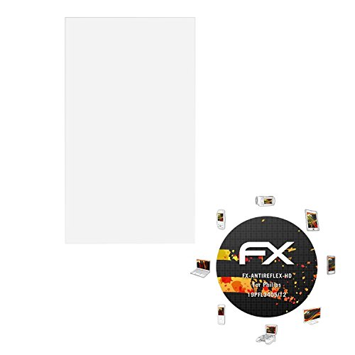 atFoliX Folie für Philips 19PFL3405/12 Displayschutzfolie - FX-Antireflex-HD hochauflösende entspiegelnde - Tv Philips 19