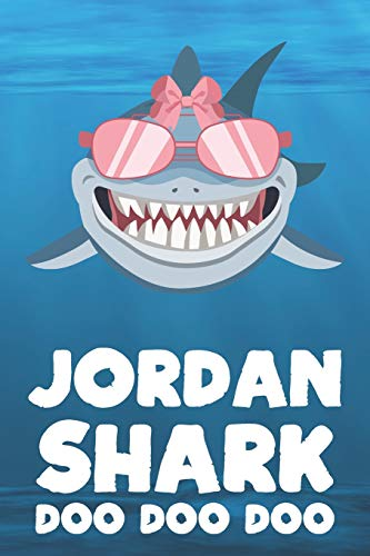 oo Doo: Blank Ruled Personalized & Customized Name Shark Notebook Journal for Girls & Women. Funny Sharks Desk Accessories Item ... Birthday & Christmas Gift for Women. ()