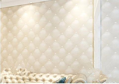 Papier peint Imitation cuir doux stéréo Wallpaper Salon télévision Canapé Chambres murs chevet Wallpapers 0.53M*9.5M,