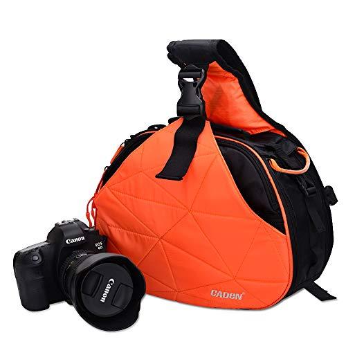 VISTANIA DSLR-Kamera Sling Bag Digitale Fototasche Schulter Wasserdichter Rucksack Gepolsterte Einstecktasche Mit Regenabdeckung Für Canon Sony,Orange