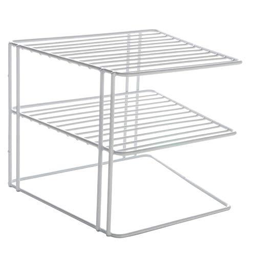 GK Plattenlagerregal Für Schrank Weiße Ecke Küchenständer Halter Organizer Platzsparende Regalschale Organizer einfügen