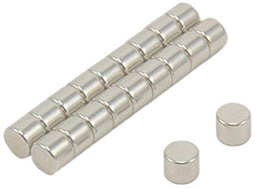 First4magnets F054-20 5mm Durchmesser x 4mm dicken N42 Neodym-Magneten - 0,86 kg ziehen (Packung mit 20), silver, 25 x 10 x 3 cm, Stück -
