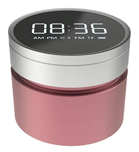 GHUOPTY LED-Wecker, Lautsprecher, drehbar, Mono-Radio, schwach Pink