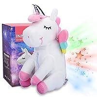 Unicorn Stuffed Animal Star Projector Night Light for Kids, Unicorn Plush Gifts for Girls, Christmas Birthday New Year Presents - InnoBeta Cornie The Unicorn