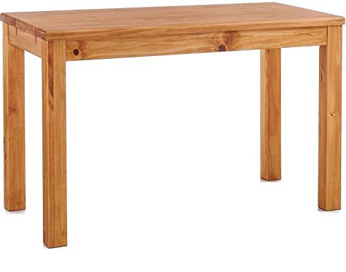 Brasilmöbel Esstisch Rio Classico 130x80 cm Honig Massivholz Pinie Holz Esszimmertisch Echtholz Größe und Farbe wählbar ausziehbar vorgerichtet für Ansteckplatten