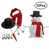 SUPVOX 13 stücke Schneemann Dekorieren Dressing Kits Dekoration Hut Schal Rohr Augen Mundknopf Nase Zubehör