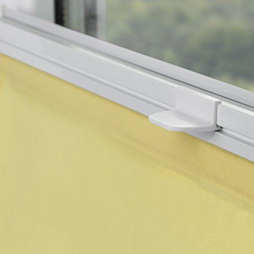 Lichtblick RTV.060.130.11 Raffrollo Klemmfix TOP, ohne Bohren, verspannt – Gelb 60 cm x 130 cm (B x L) - 4