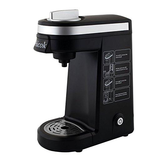 Aicok Kaffeefiltermaschine Kompakte Einzeltassen Kaffeemaschine, Schwarz