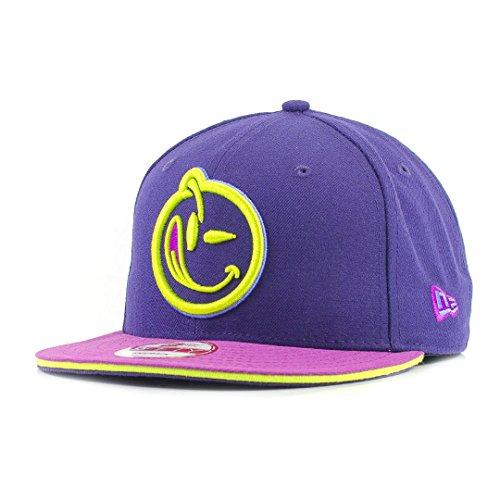 new-era-9fifty-x-yums-smiley-face-purple-cyber-green-snapback-cap