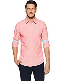 United Colors of Benetton Men's Striped Slim Fit Cotton Casual Shirt