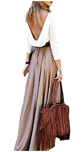 CuteRose Women Solid Color High Waist Ankle Length Pleated Lounge Skirt Khaki M - Khaki Pleated Skirt