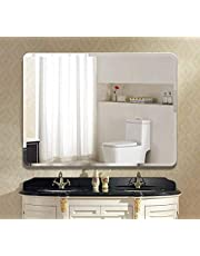Seven Horses Frameless Wall Mounted Rounded Corner 5mm Rectangular Bevelled Bathroom Mirror(Size : 18X24 Inch)