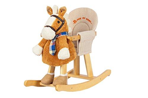 Sweety Toys 7066 Schaukelpferd mit Halstuch orange-braun - 2in1 Produkt- Schaukelpferd und Handpuppe