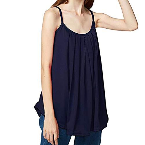 rmellose Tank Top Einfarbig Camisole Weste Plus Size T-Shirt Bluse Sommer Oberteile Große Größen ()