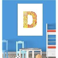 Alphabet D Nursery Children Educational Early Learning Poster Print Wall Art V2 preiswert