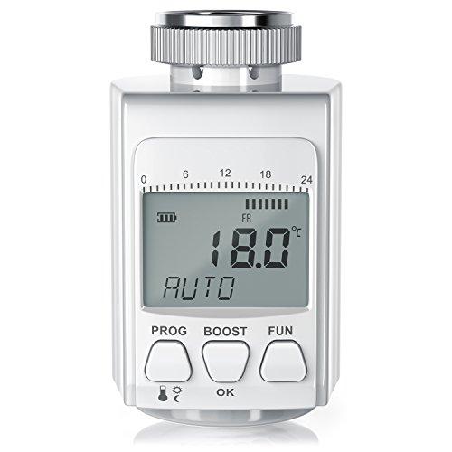 CSL - digitales Heizkörperthermostat | bis zu 30% Heizkosten Ersparnis | Radiator Thermostat | intelligenter Eco / Boost-Modus