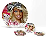 Atosa-Atosa-17149-pack 5 Platos 23 cms Barbie