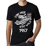 1957, Uomo T shirt, 100% cotone, taglie: XS, S, M, L, XL, XXL, 3XL, 4XL, 5XL.Noi rispettiamo l\'ambiente!Le t-shirt sono stampate con inchiostro ecologico a base di acqua senza solventi e privo di sostanze pericolose. L\'inchiostro Ë totalmente resis...