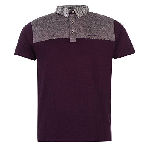 pierre-cardin-a-panneaux-polo-pour-homme-violet-top-t-shirt-tee-large-violet