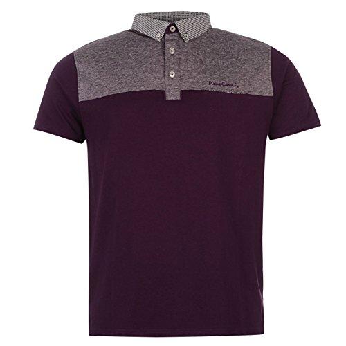 pierre-cardin-panelled-polo-uomo-viola-top-t-shirt-tee-purple-l