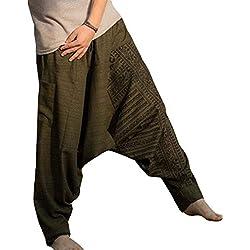 Casuales Pantalones para Hombre, Moda Tallas Grandes Hippies Pantalones Harem con Cintura Elástica Cómodos Loose Fit Pantalones Largos Bottoms Seis Colores