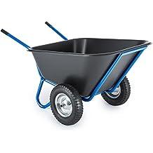 Waldbeck Colossus Carretilla 2 ruedas Azul (capacidad 300 litros, carga máxima 350kg, ligero