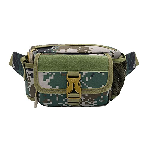Samtlan - Military Single Schulter Fanny Packs, Multifunktionale wasserdichte Taille Pack Tasche zum Wandern Klettern Outdoor Digitale Tarnung