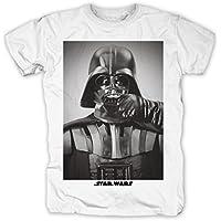 La Guerra de las Galaxias - Camiseta fashion bigote Darth Vader - Star Wars - M