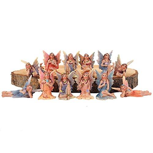 12wunderschöne Miniatur-Blumen-Feen, funkelnd, Box Set, Glitzer-Fee, Ornament (Fee Ornamenten)