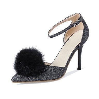 Zormey Frauen Schuhe Glitzer/Stiletto Heel/Schuhe Heels Hochzeit Schuhe/Party & Amp Abend-/Kleid Schwarz/Rot/Silber US5.5 / EU36 / UK3.5 / CN35
