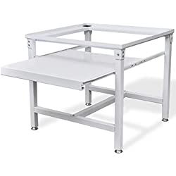 vidaXL Socle pour Machine à Laver Étagère Coulissante Blanc Base de Lave-linge
