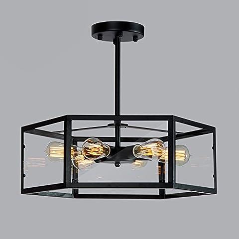 Ferro da stiro Art Nouveau Ristorante 6 Chelier-Creative vetro Soggiorno luce Coffee Shop personalità Cheliers di vetro