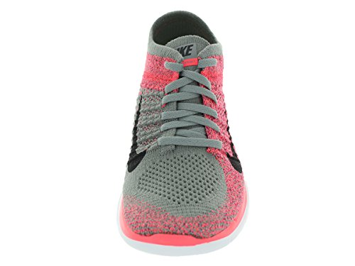 Nike free flykit 4.0 rouge/gris Light Charcoal- Black-Hyer Punch