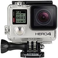 GoPro HERO4 Silver Edition Adventure Videocamera, 12 MP, 4K/15 Fps, 1080p/60 Fps, 720p/120 Fps, Wi-Fi, Bluetooth (Ricondizionato Certificato)